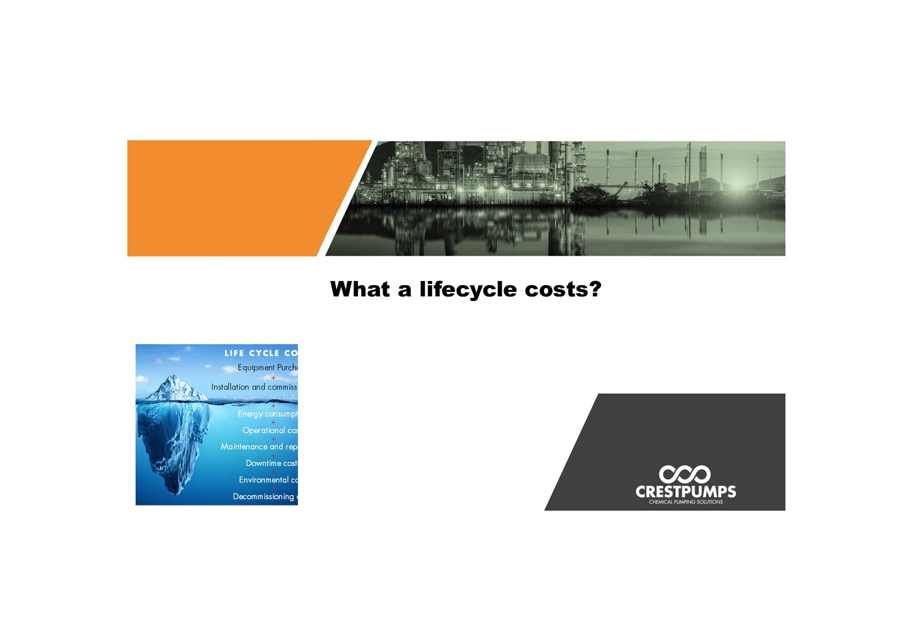 what are lifecycle costs title page with crest logo