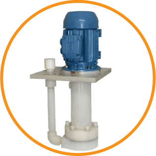 One of Crest's Vertical pumps in blue and white