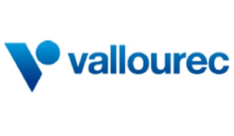 Vallourec Logo - Blue text with a Large V at the beginning.