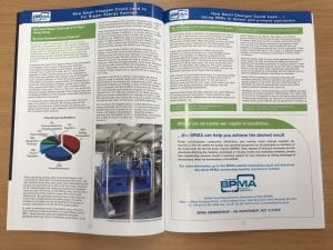 A picture of Crest Pumps article in the BPMA magazine